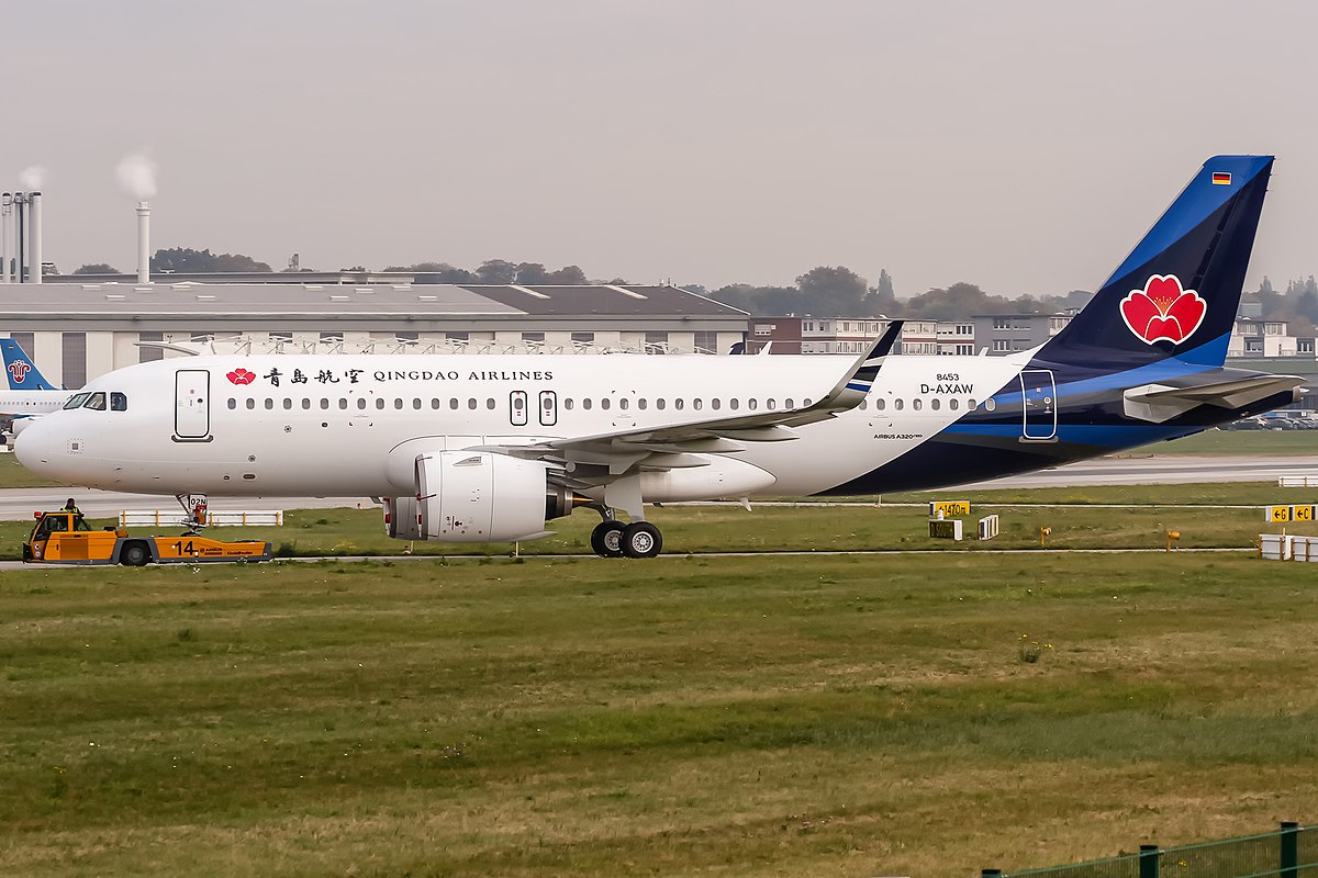 Airbus A320neo fra Qingdao Airlines (Foto: Oliver Holzbauer | CC 2.0)