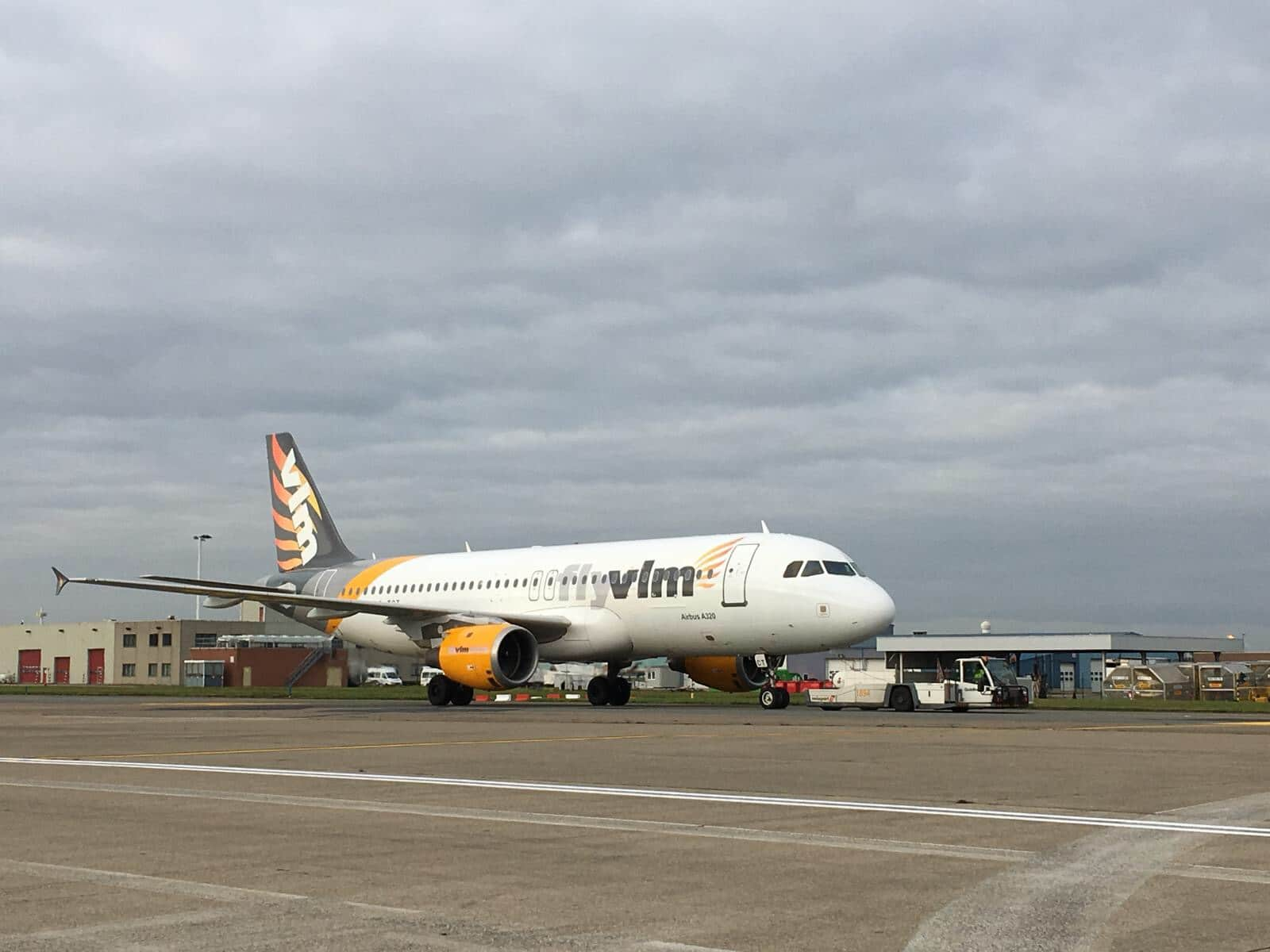 Den indlejede Airbus A320 fra VLM Airlines. Foto: VLM Airlines