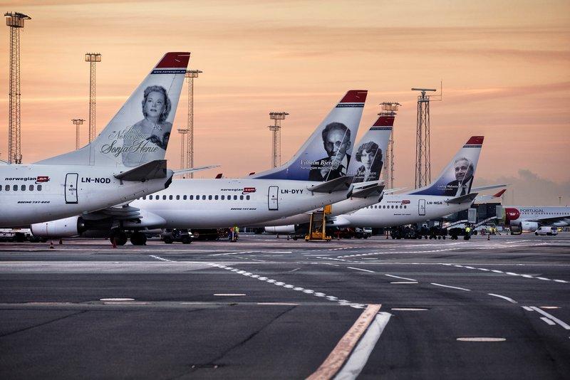 Norwegian-fly i Københavns Lufthavn. (Foto: Ernst Tobisch)