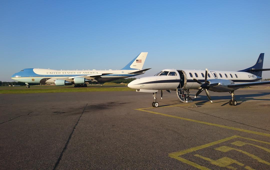 En af North Flyings Fairchild Metroliners på opgave i Helsinki i juli 2018 (Foto: North Flying/Facebook)