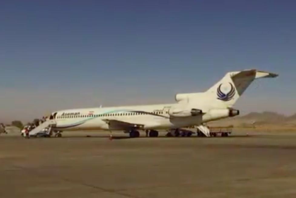 Boeing 727-flyet fra Iran Aseman Airlines, der udførte verdens sidste passagerflyvning med denne model. Foto: Babak Taghvaee, Twitter