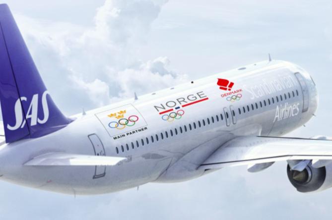 SAS har indgået partnerskab med de tre skandinaviske olympiske komitéer om at flyve OL-atleter til henholdsvis Tokyo og Beijing. Illustration: SAS