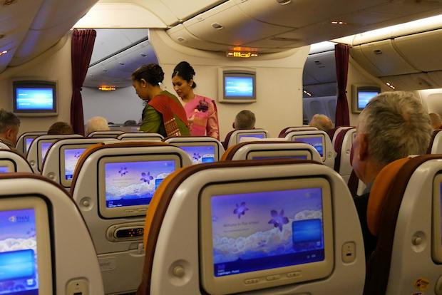 Thai Airways økonomiklasse levede op til forventningerne. Foto: Jan Aagaard