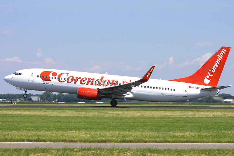 En Boeing 737-800 fra det hollandske flyselskab Corendon Dutch Airlines. Foto: Corendon Dutch Airlines