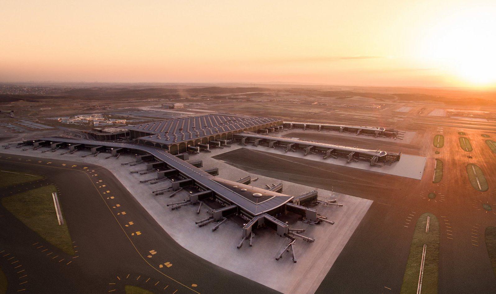 Den nye tyrkiske storlufthavn, Istanbul Airport, forventer at blive fuldt operationsdygtig fra 3. marts. Foto: Istanbul Airport, iGA