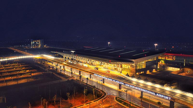 Den helt nye Van Don International Airport ved Halong Bay i Vietnam. Foto: Sun Group