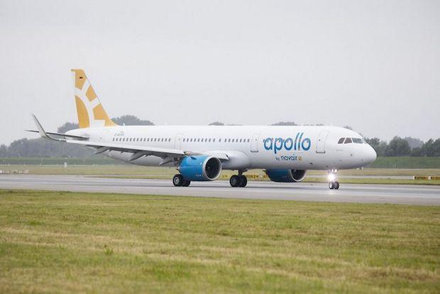 Airbus A321neo-flyet blev leveret til Novair i juni 2017.