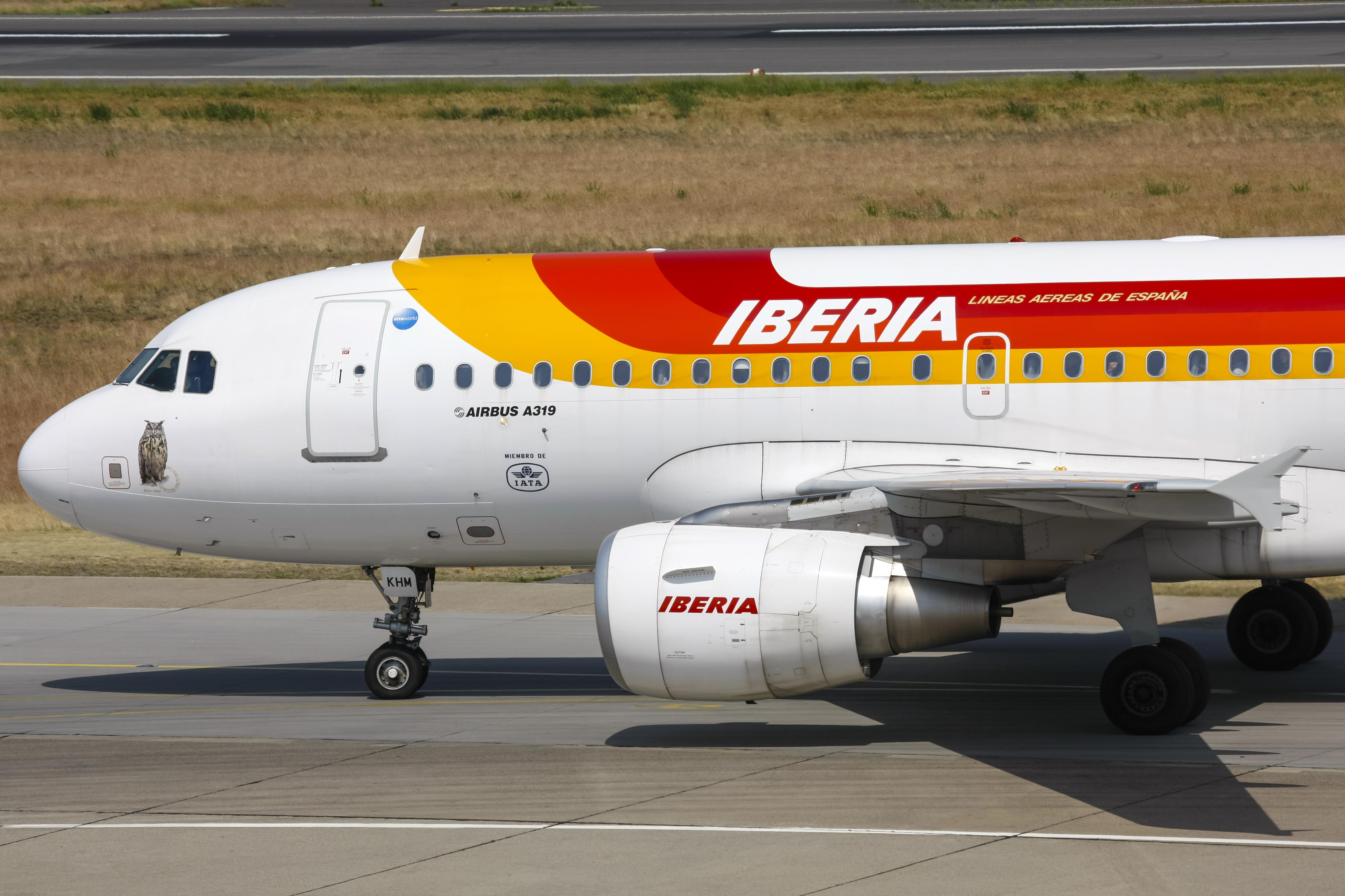 En Airbus A319 fra det spanske flyselskab Iberia. Foto: © Thorbjørn Brunander Sund, Danish Aviation Photo
