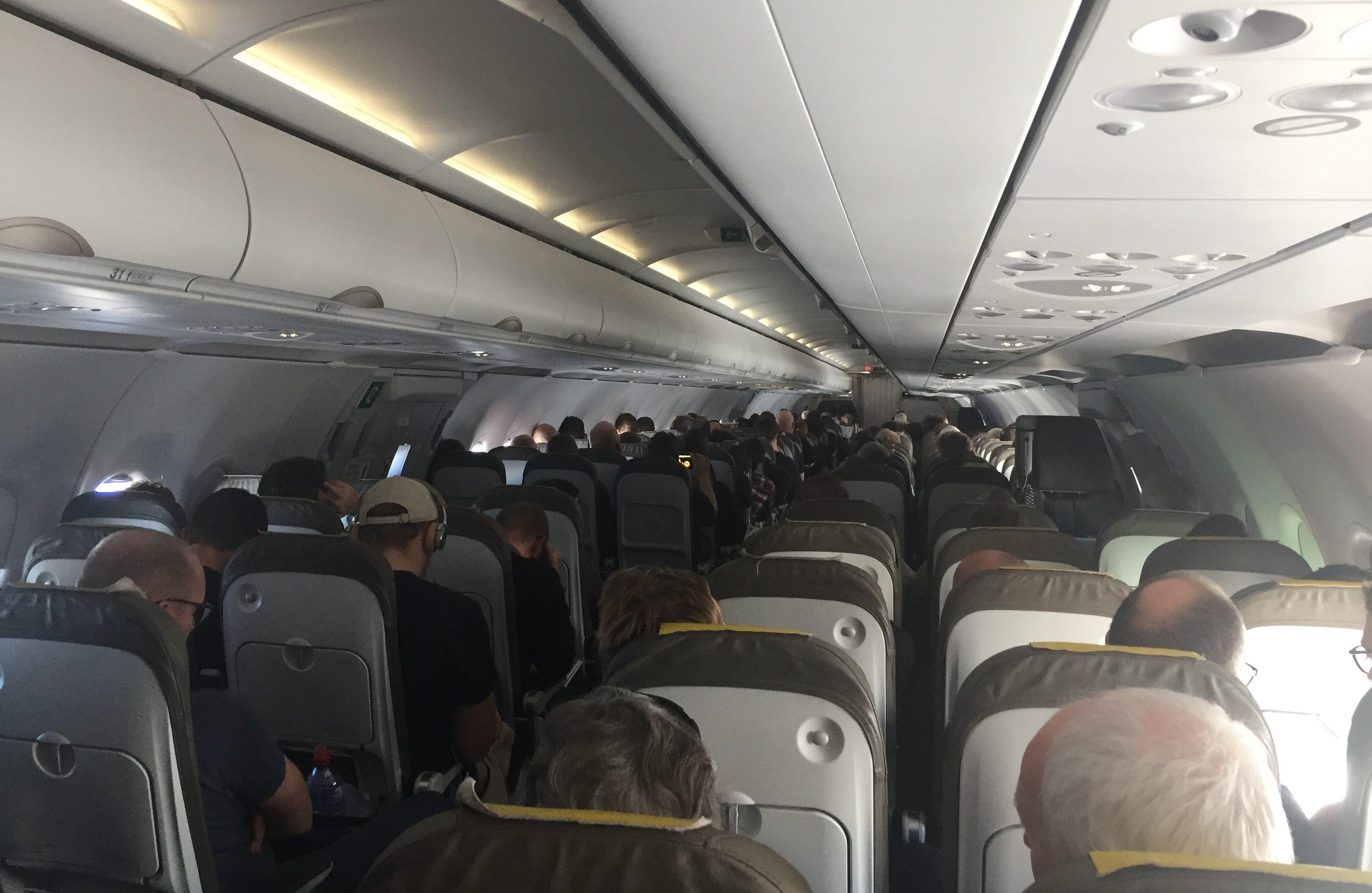 Kabinen i Airbus A321-flyet hos LEVEL. Foto: Danny Longhi Andreasen