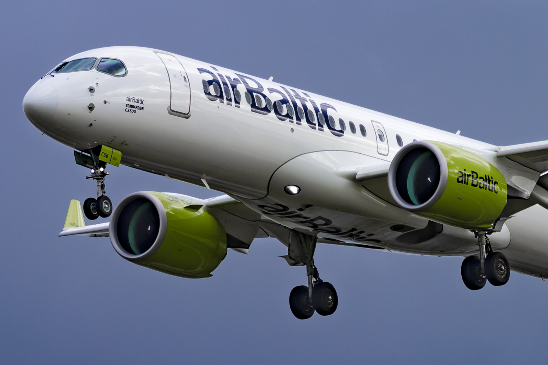 En Airbus A220-300 fra airBaltic. Foto: © Thorbjørn Brunander Sund, Danish Aviation Photo