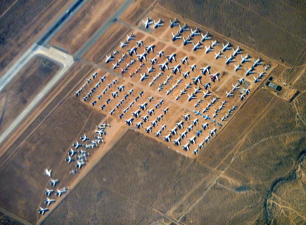 Flykirkegården i Victorville Airport i det sydlige californiske ørken. (Arkivfoto: Bobak Ha'Eri | CC 3.0)