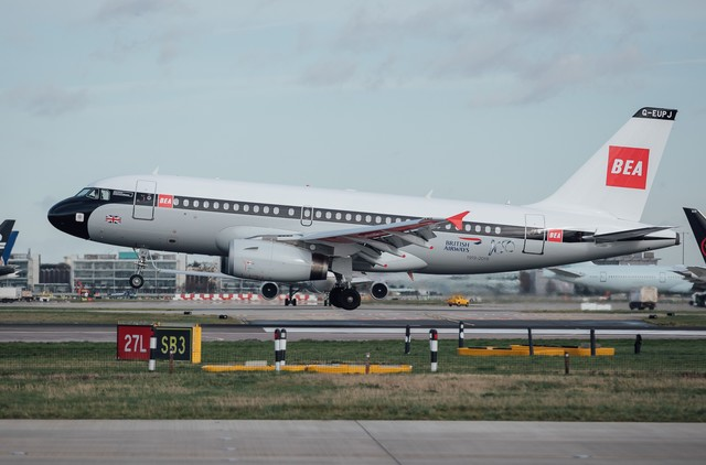 Airbus A319 fra British Airways i BEA-bemaling. (Foto: British Airways/PR)