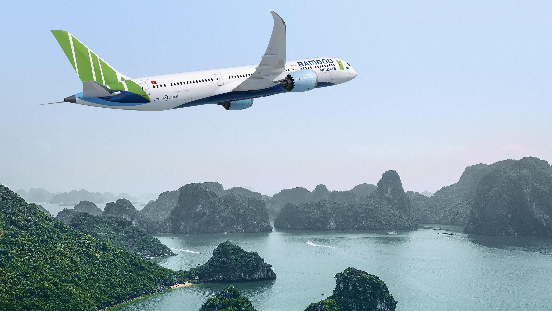 Det vietnamesiske flyselskab Bamboo Airways har en samlet ordre på 30 Boeing 787 Dreamlinere. Foto: Boeing