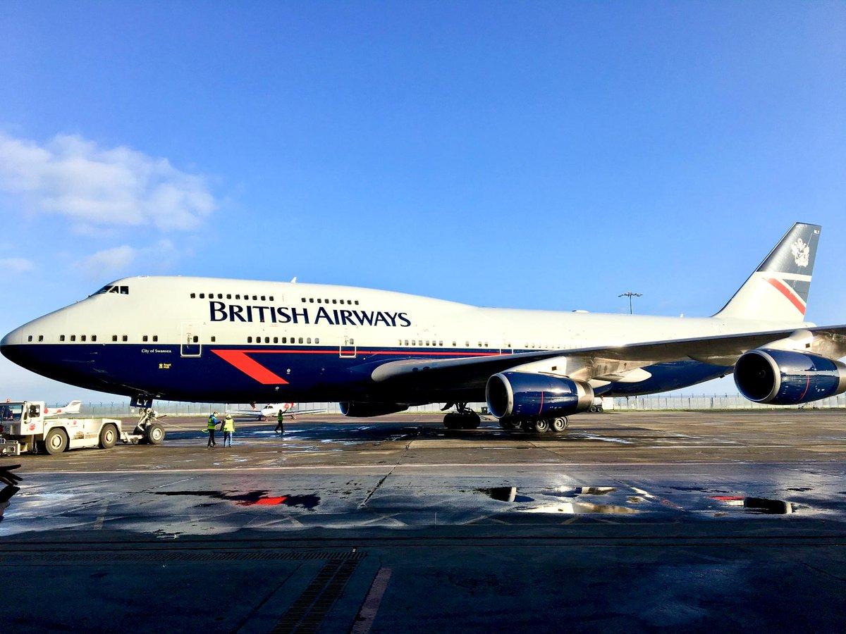 Boeing 747-400 fra British Airways i Landor retro-design (Foto: British Airways/Twitter)