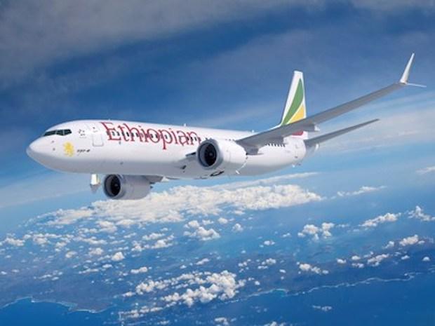 Ethiopian Airlines Boeing 737 MAX 8.