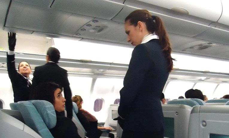 Spansk kabinepersonale på Finnair-fly (Arkvifoto: HELyes)