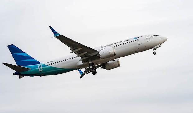 Boeing 737 MAX 8 fra Garuda Indonesia. (Foto: Boeing)