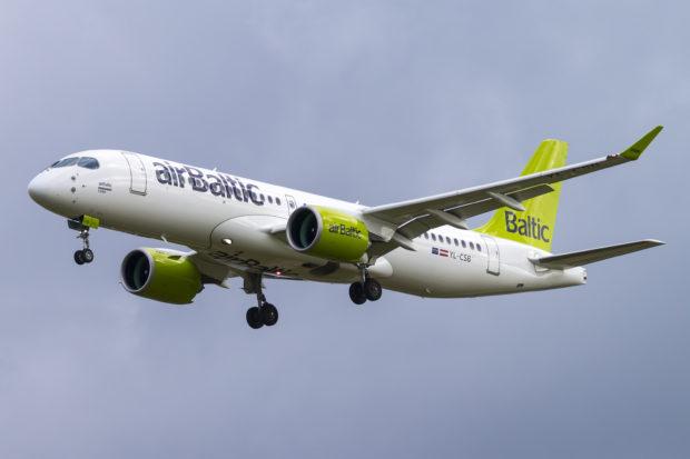 En Airbus A220-300 – tidligere kendt som CS300 – fra airBaltic. Foto: © Thorbjørn Brunander Sund, Danish Aviation Photo