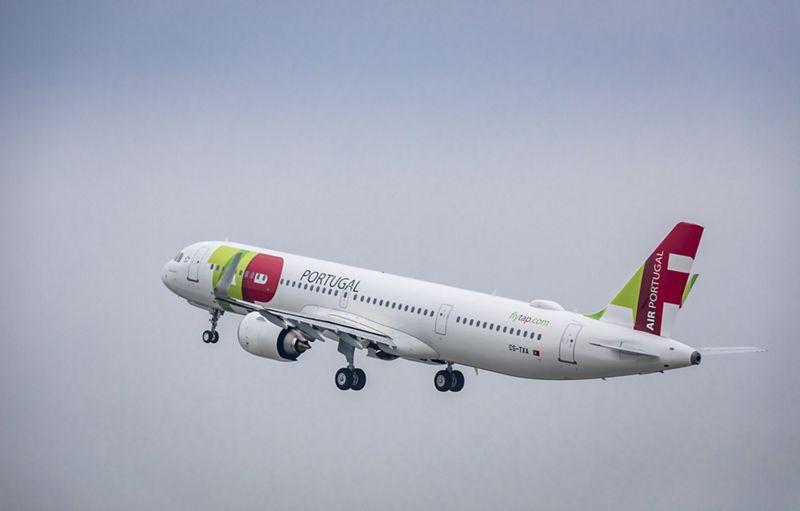 Første Airbus A321LR til TAP Air Portugal. (Foto: Bengt Lange / Airbus)