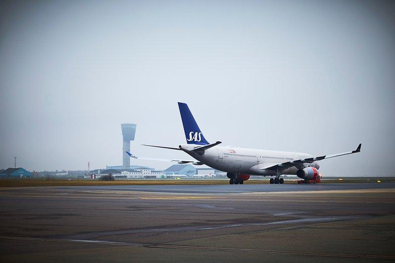 Airbus A330-300 fra SAS i Københavns Lufthavn. (Foto: CPH/David Perrin)