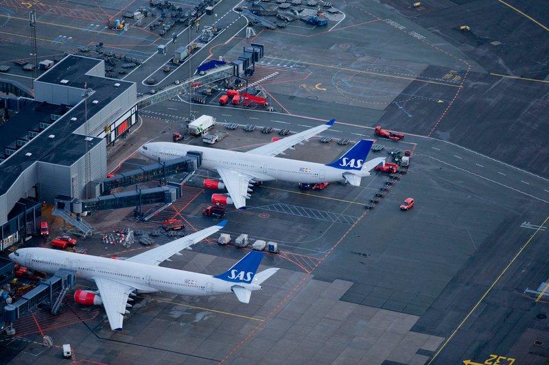 SAS-langdistancefly i Københavns Lufthavn. (Foto: Ernst Tobisch/CPH)
