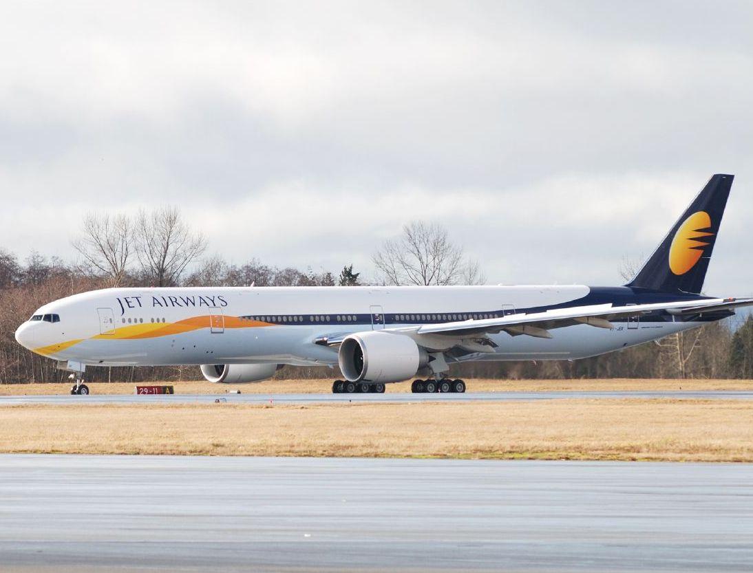 En Boeing 777-300ER fra det indiske flyselskab Jet Airways. Foto: Timothy Dauber