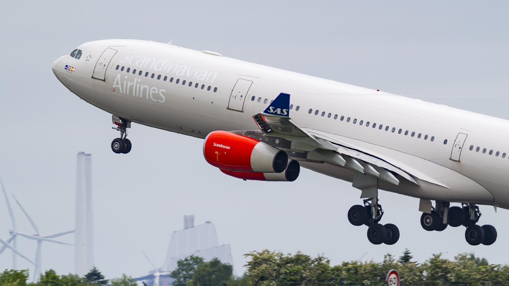 En Airbus A340-300 fra SAS. Foto: © Thorbjørn Brunander Sund, Danish Aviation Photo