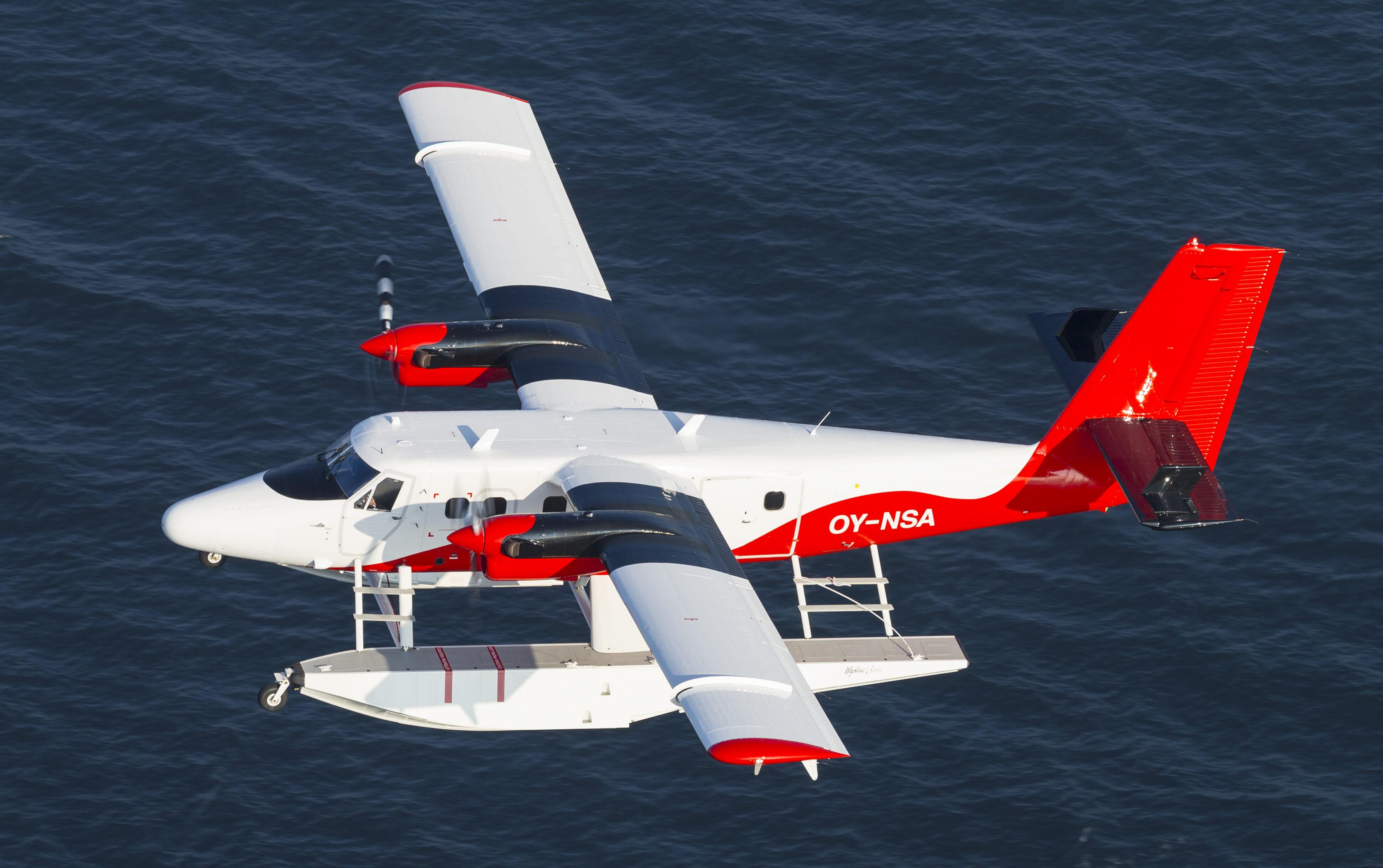 Twin Otter-flyet fra det danske vandflyselskab Nordic Seaplanes. Foto: Nordic Seaplanes