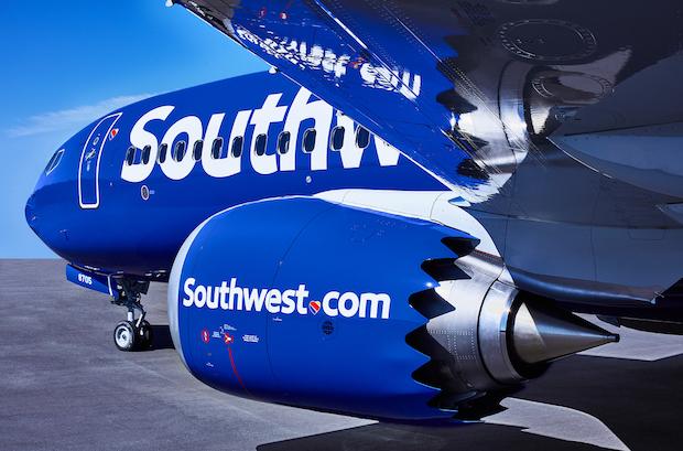 En Boeing 737 MAX 8 fra Southwest Airlines.