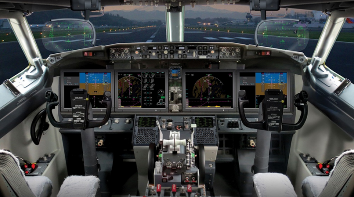 Boeing 737 MAX 8-cockpit (Foto: Rockwell Collins)