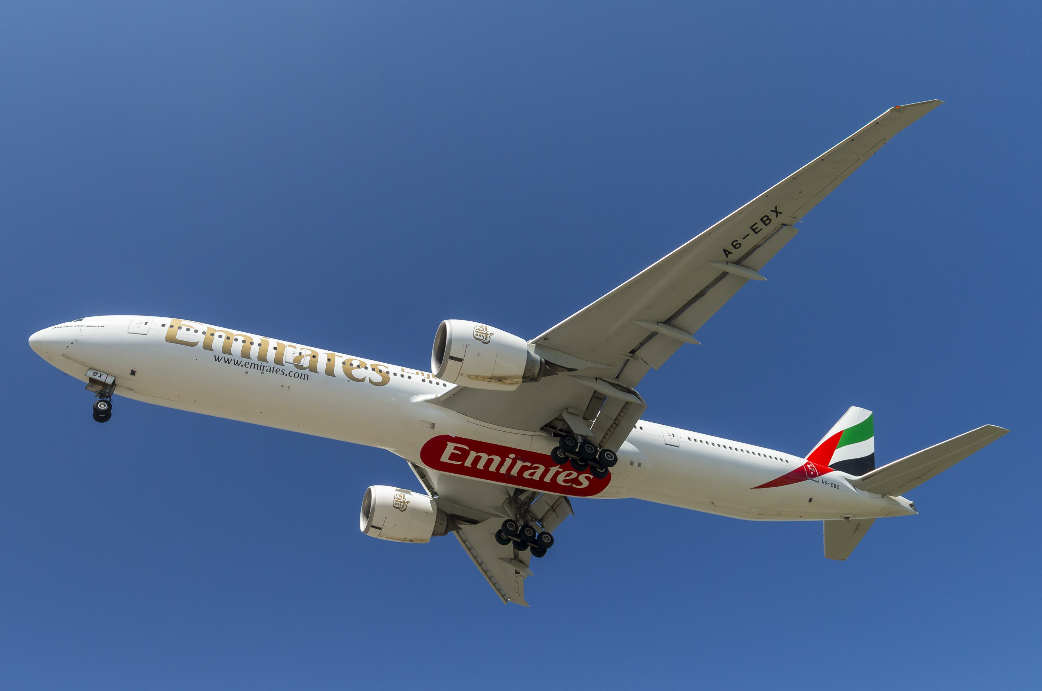 En Boeing 777-300 fra Emirates. Foto: © Thorbjørn Brunander Sund, Danish Aviation Photo