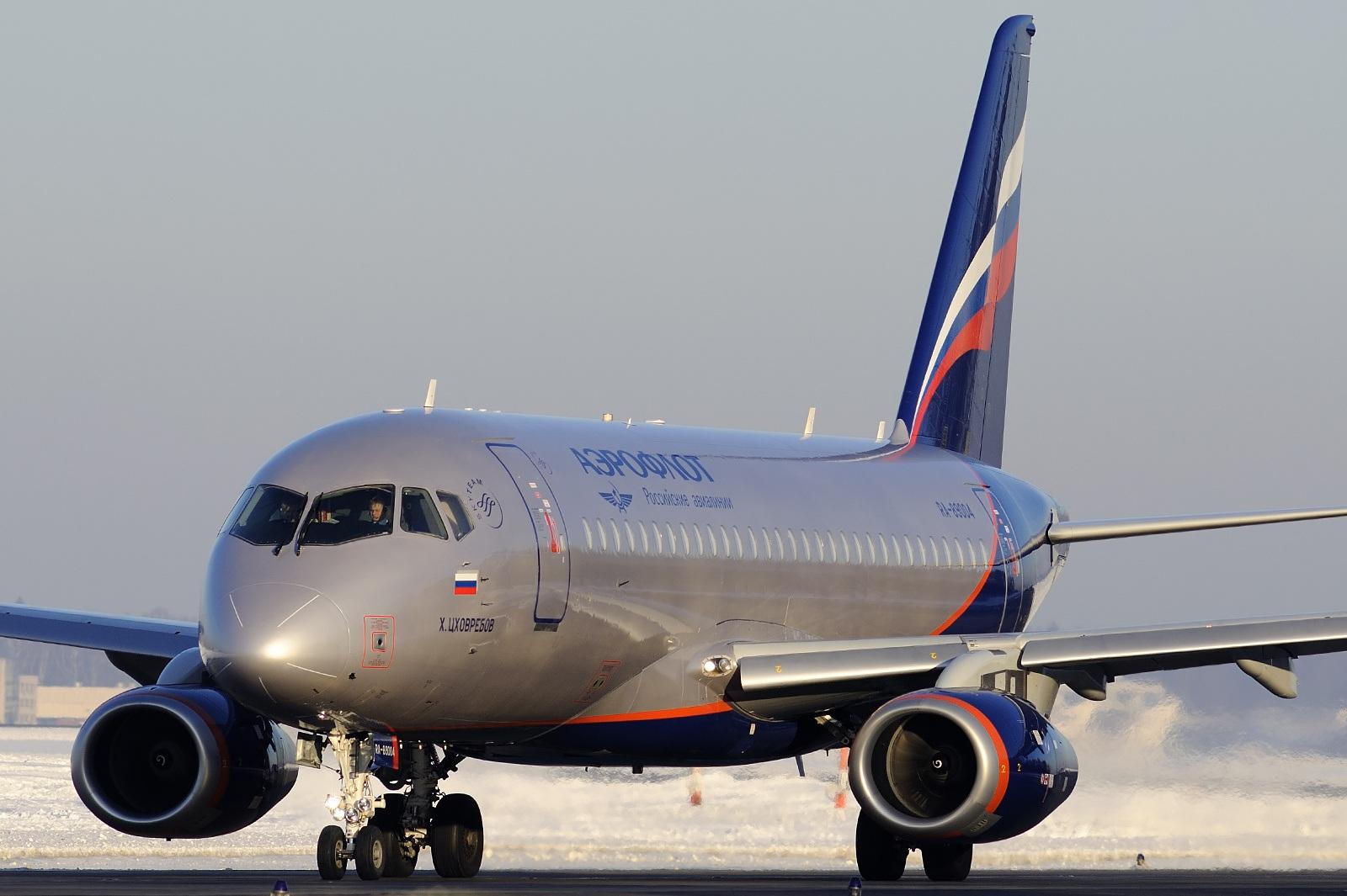 Sukhoi Superjet 100-95B fra Aeroflot (Foto: Nikiforov Konstantin | GNU 1.2)