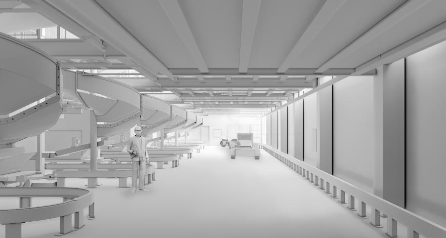 Den kommende Bagagefabrik Vest i CPH (Illustration fra MT Højgaards hjemmeside)
