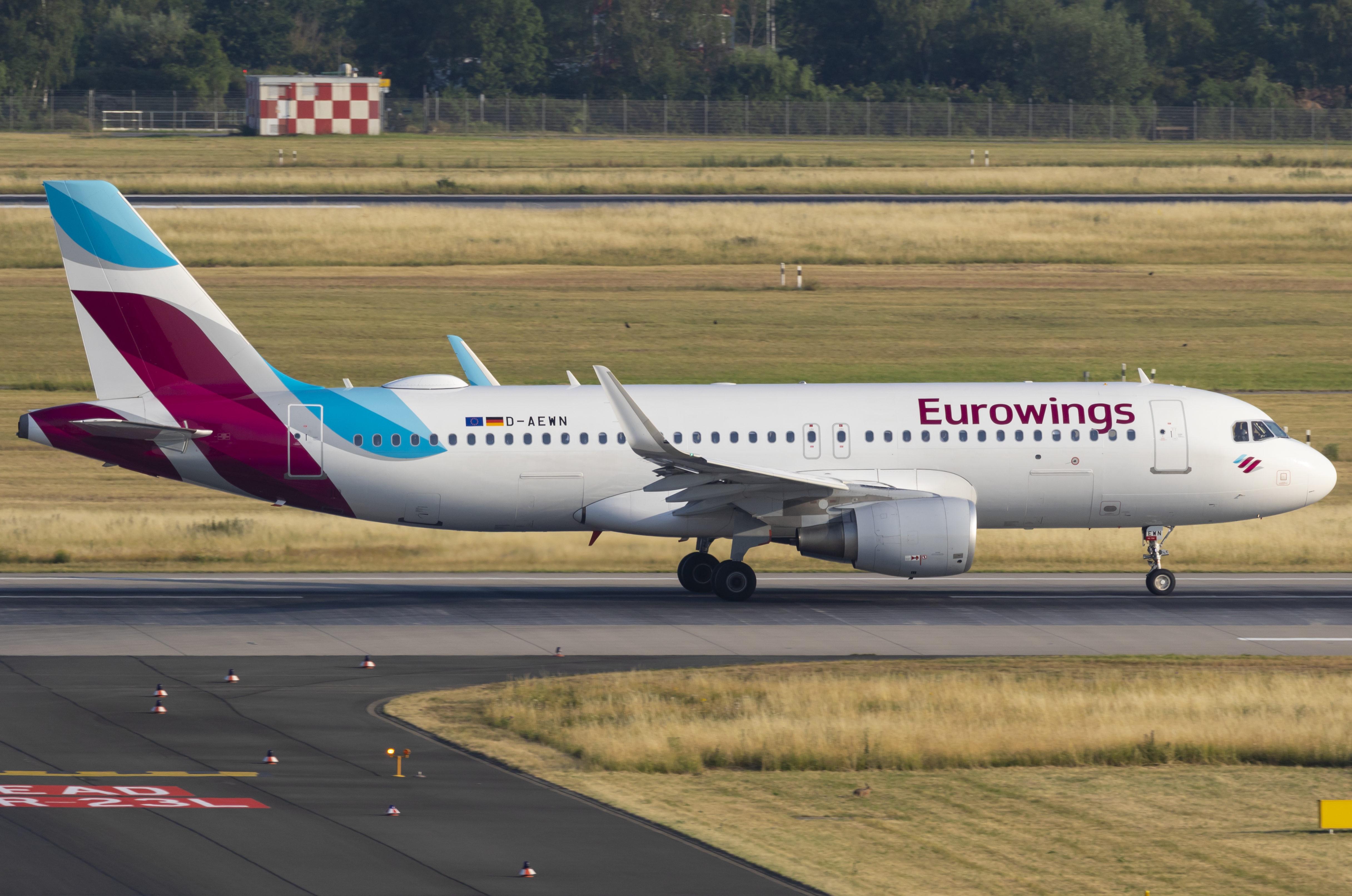 En Airbus A320-200 fra det tyske Lufthansa-lavprisflyselskab Eurowings. Foto: © Thorbjørn Brunander Sund, Danish Aviation Photo