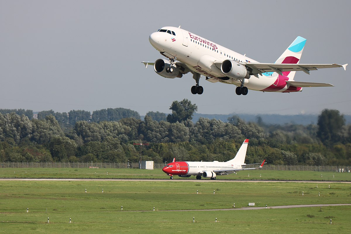 Fly fra Eurowings og Norwegian i Düsseldorf Airport. (Foto: Marvin Mutz | CC 2.0)