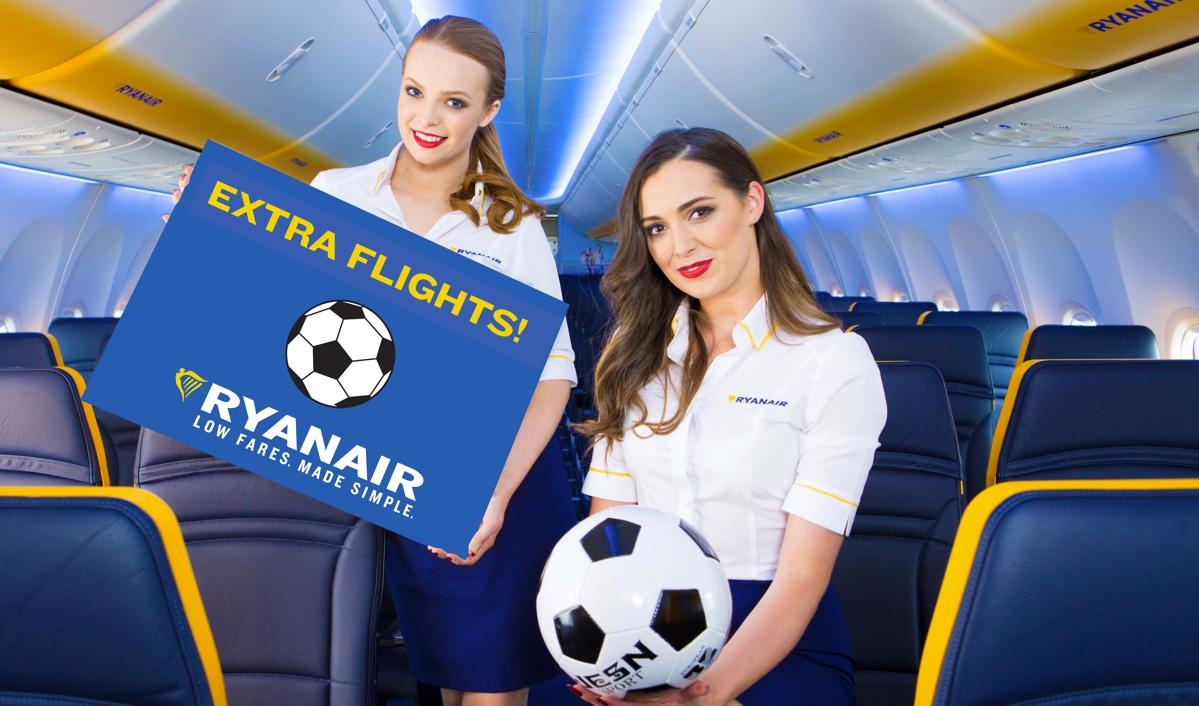 Ryanair tilbyder ekstrafly til Champions League-finalen i Madrid (Foto: Ryanair/PR)