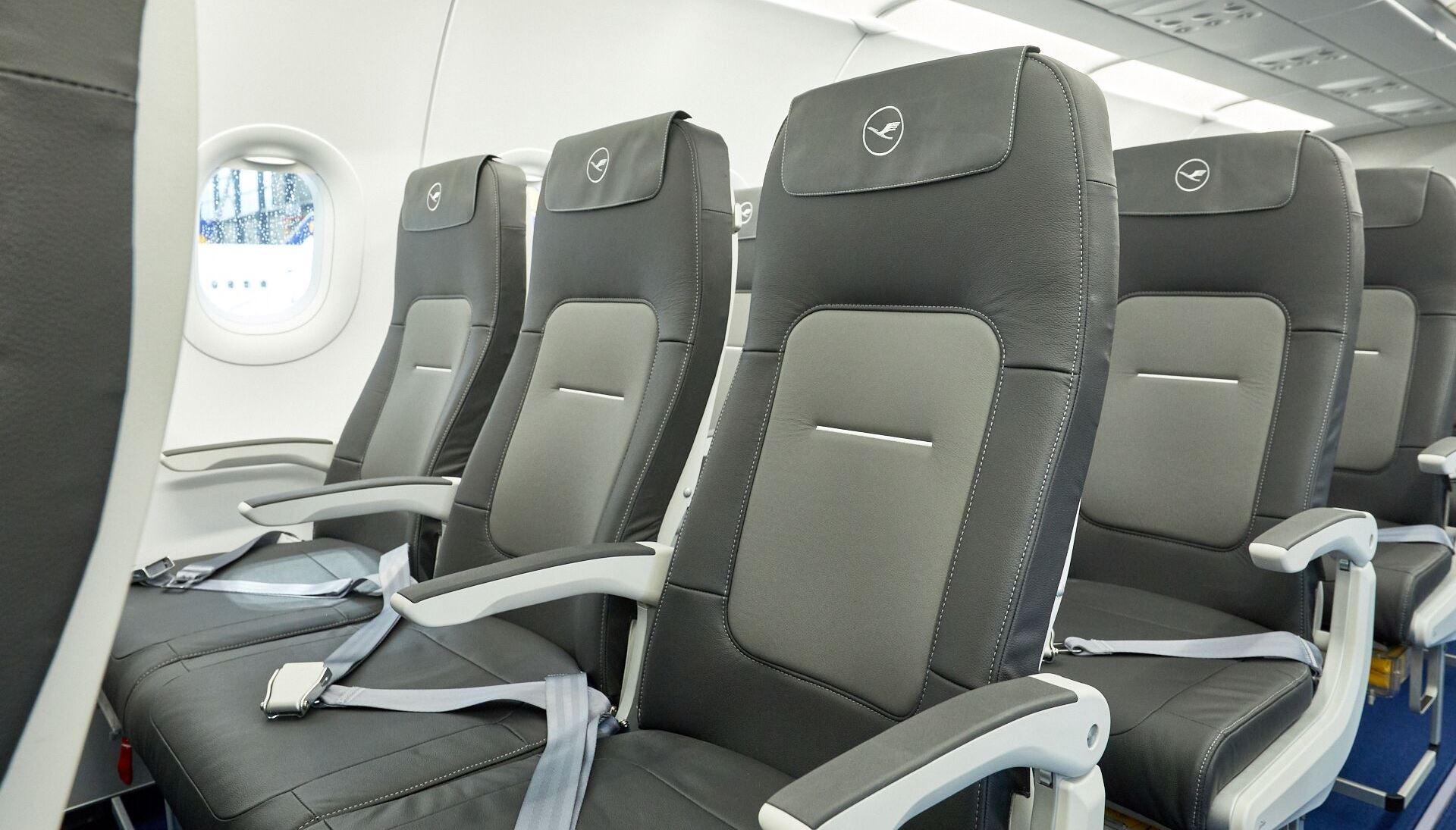 Nye sæder i alle kort- og mellemdistancefly i Lufthansa Gruppen. (Foto: Lufthansa/PR)