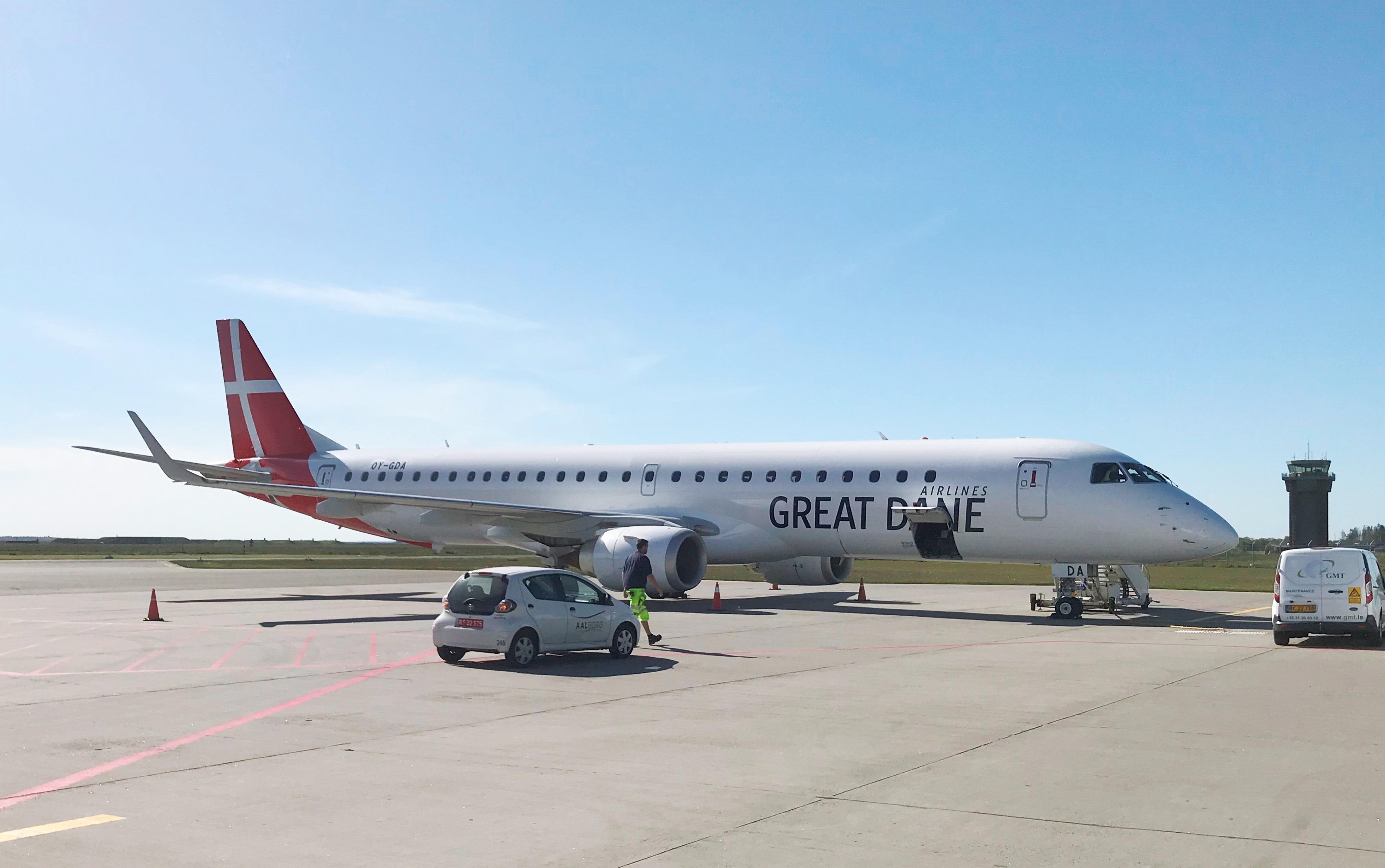 OY-GDA fra Great Dane Airlines i Aalborg Lufthavn. (Foto: Ole Kirchert Christensen)