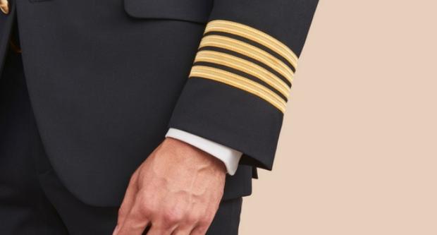 Kaptajnsuniform (Arkivfoto: Olino Uniforms)