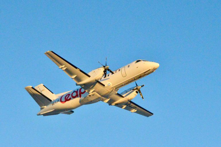 SAAB 340 fra Air Leap (Foto: Ørland Lufthavn)