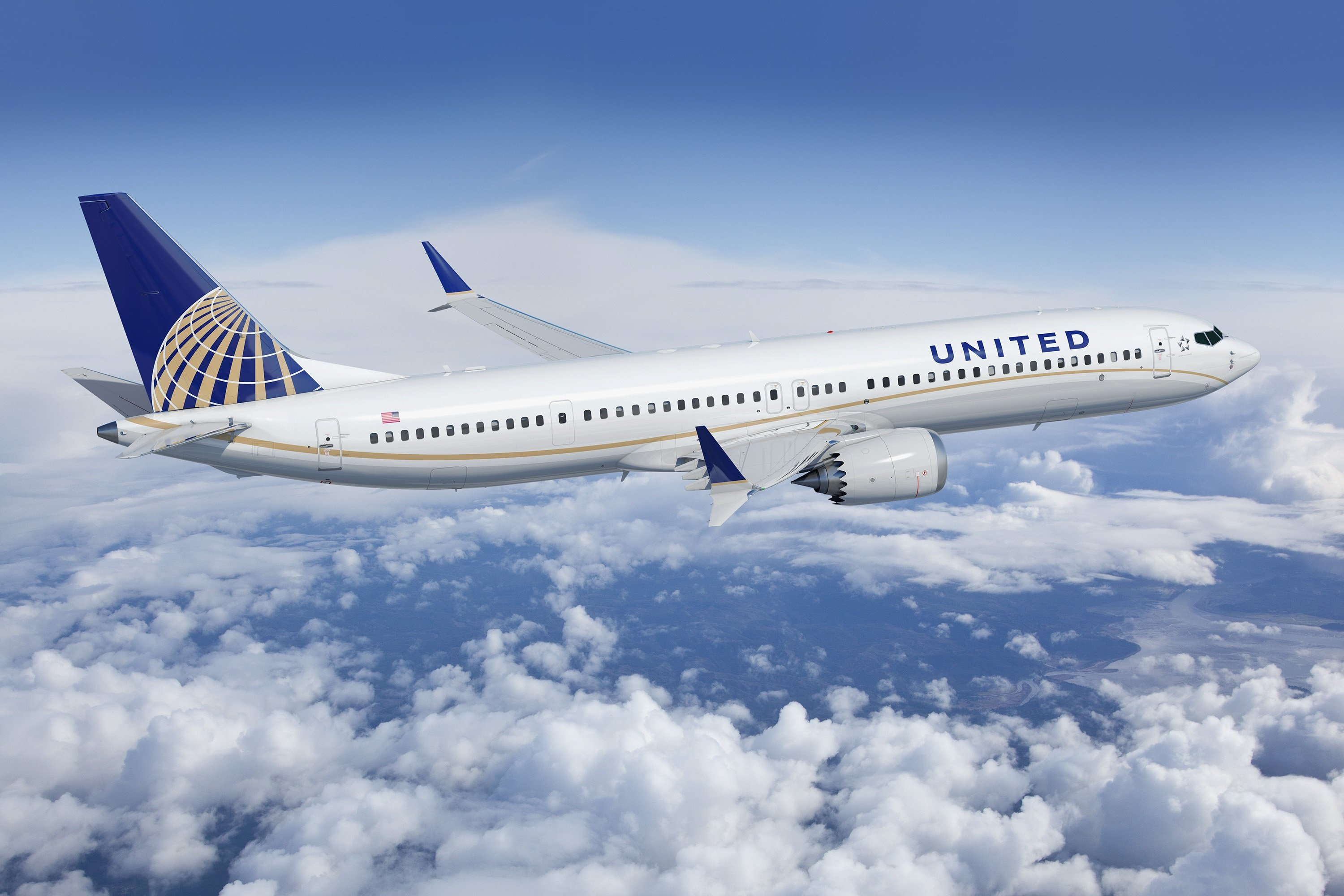 United Airlines Boeing 737 MAX-9 (PR-foto, United Airlines)