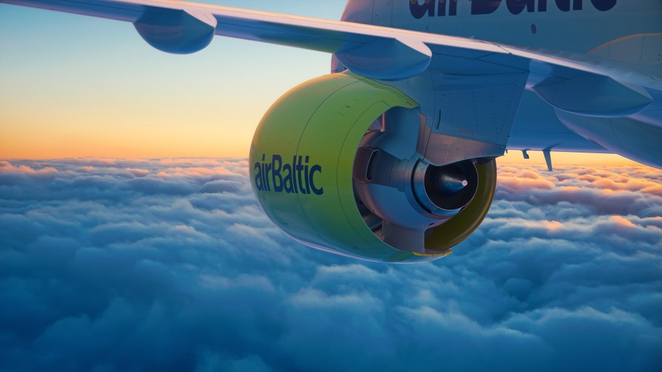 Airbus A220-300 (tidligere Bombardier CS300) fra airBaltic. (Foto: airBaltic/PR)