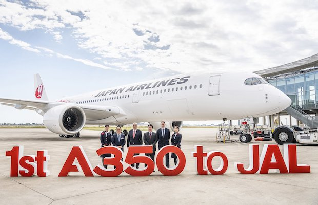 Japan Airlines modtog det nye Airbus A350-fly i Toulouse. (Foto: Airbus)