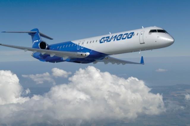 CRJ1000 fra Bombardier.
