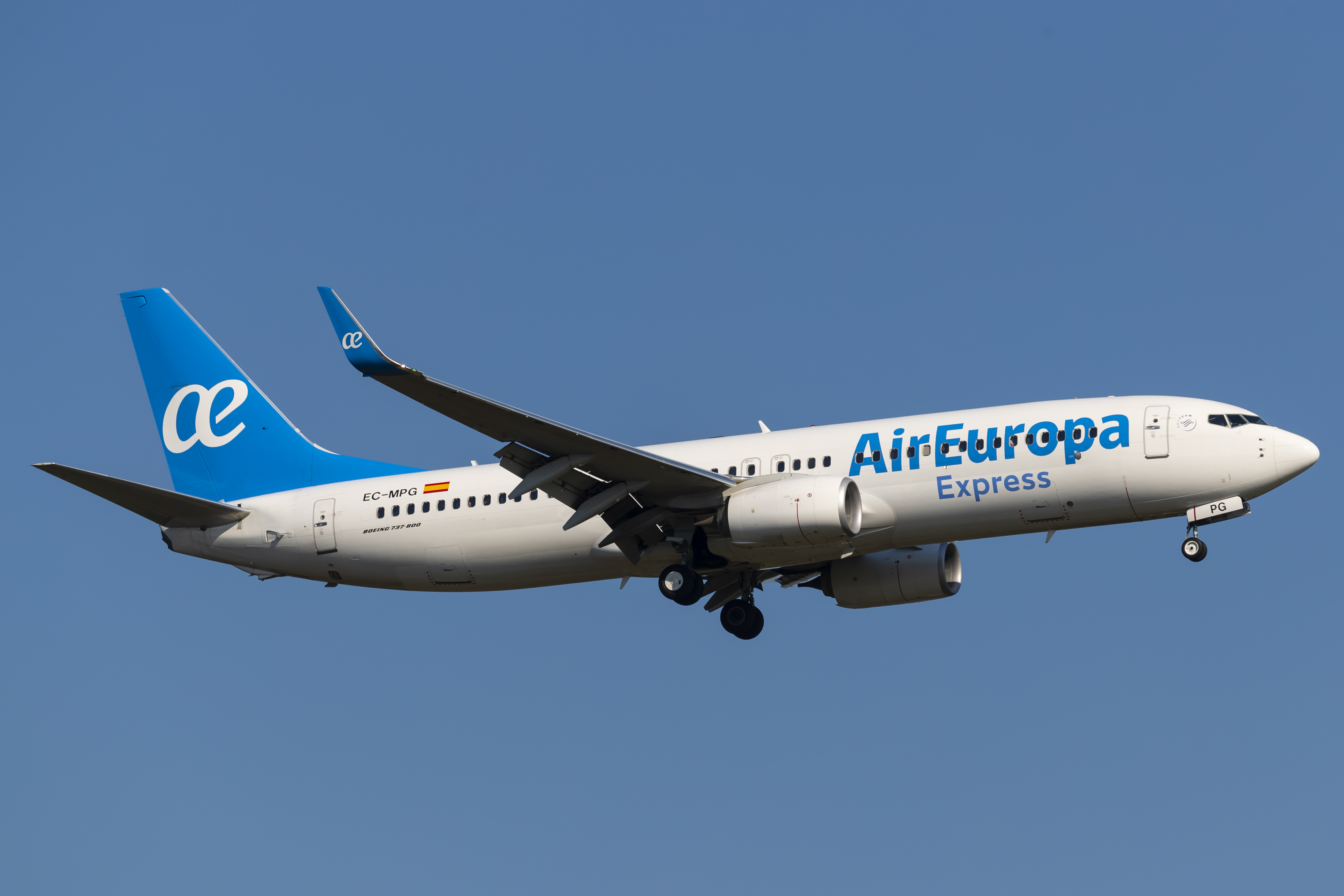 En Boeing 737-800 fra det spanske flyselskab Air Europa. Foto: © Thorbjørn Brunander Sund, Danish Aviation Photo