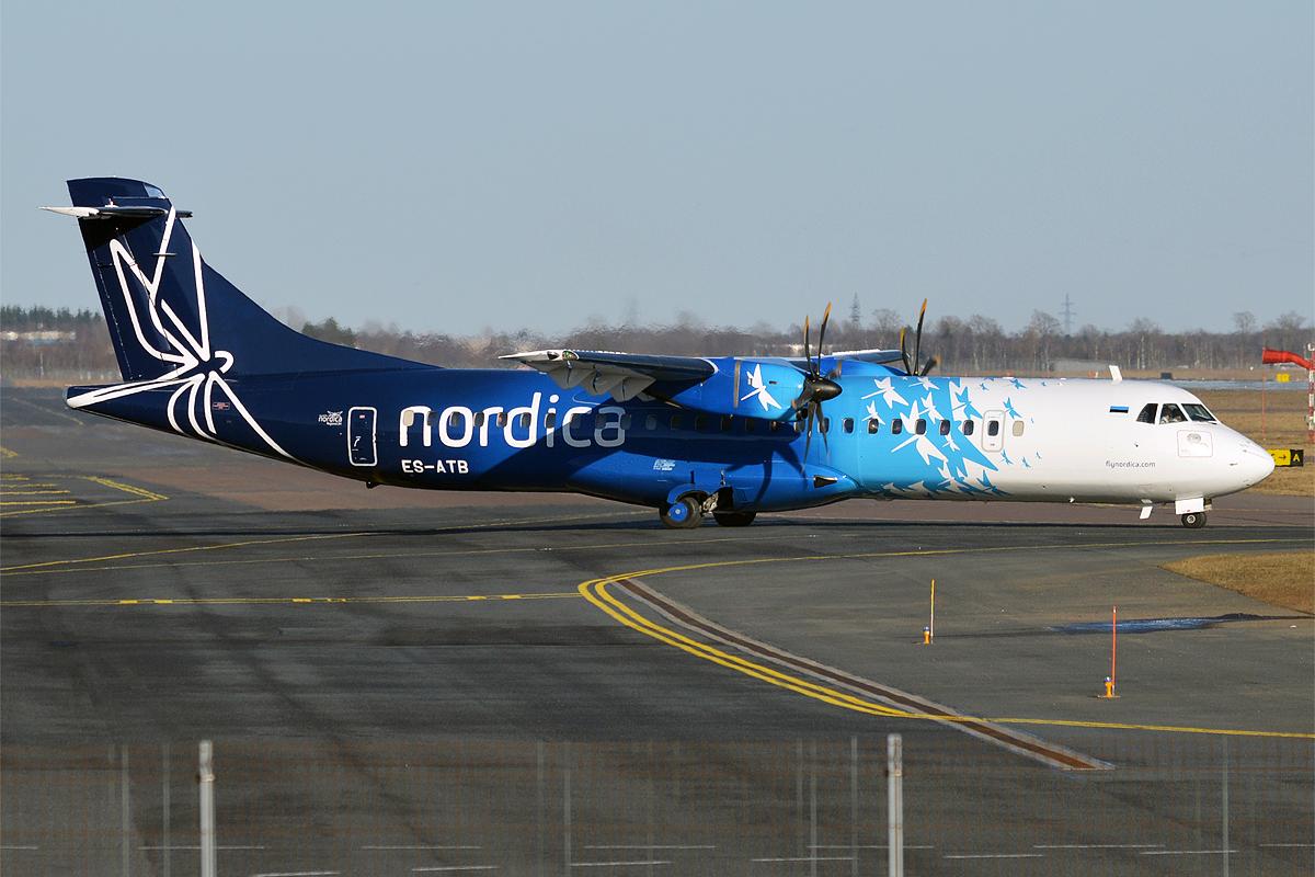 En ATR72-600 fra det estiske flyselskab Regional Jet OÜ, der er datterselskab til Nordica. Foto: Anna Zvereva