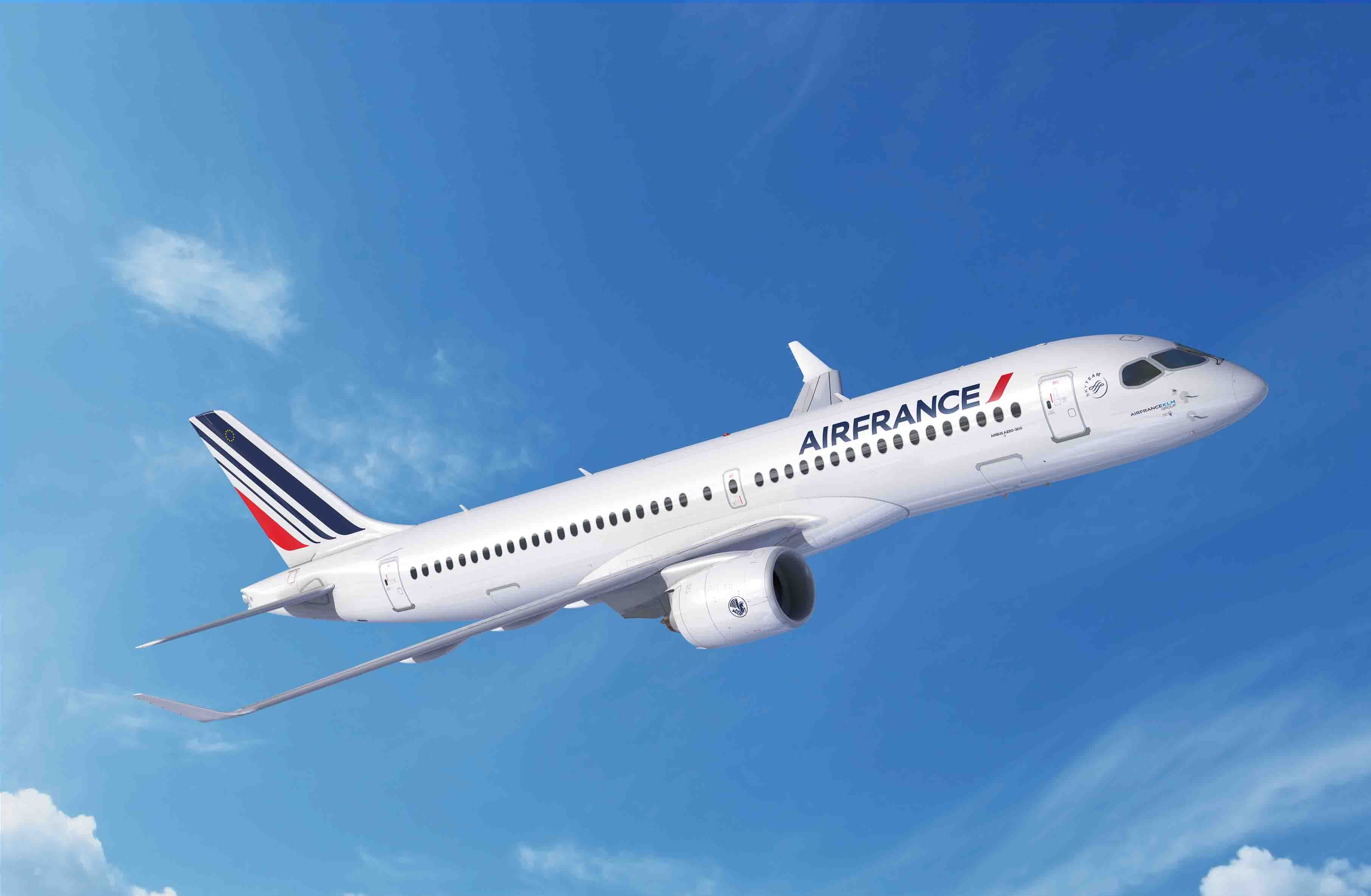 Airbus A220-300 i den kommende Air France-version. (Foto: Airbus | FIXION | dreamstime.com)