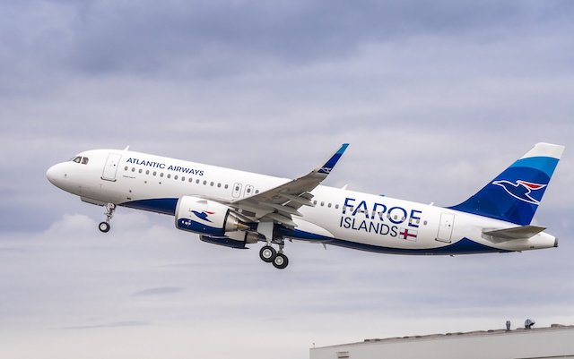 Atlantic Airways nye Airbus A320-200neo med registreringen OY-RCK. (Foto: Airbus)