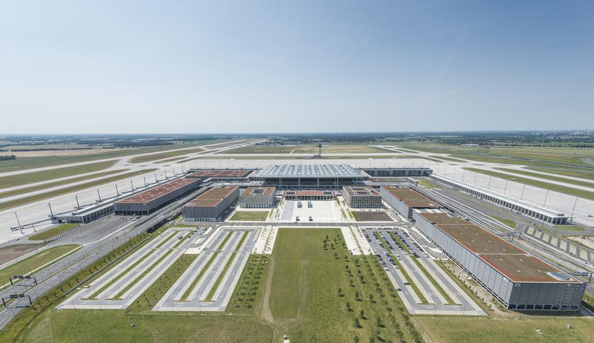 Berlin Brandenburg-lufthavnen åbner efter planen til oktober 2020. Foto: Flughafen Berlin Brandenburg
