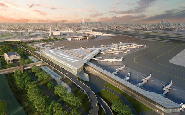 Den kommende Terminal One i Newark. (Illustration: Port Authority)